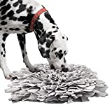 IEUUMLER Schnüffelteppich Hund Riechen Trainieren Schnüffeldecke Futtermatte Trainingsmatte für Haustier Hunde Katzen IE075 (45x45cm, Grey-2)