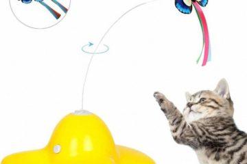 Elektrisch drehender Schmetterling – Interaktives Spinning Teaser Spielzeug für Katzen