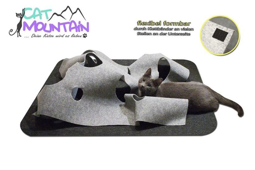 Katzenspielzeug und Kratzmatte