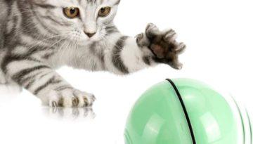 Selbstdrehender 360-Grad-Ball mit LED-Licht,